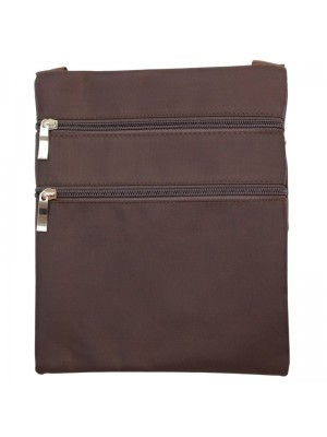 Wholesale Classical Style Zippable Bag With String-Brown(25cm x 20cm)