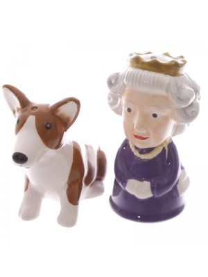 Queen and Corgi Salt & Pepper Set