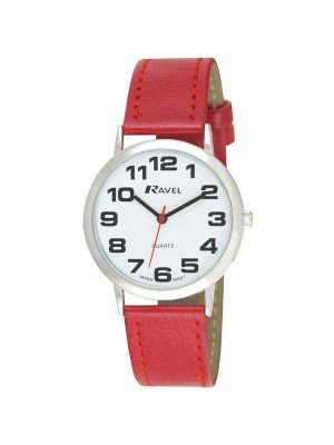 Ravel Gents Classic Watch - Red & Silver