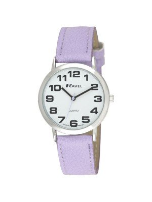 Ravel Unisex Classic Strap Watch - Purple / Silver / White