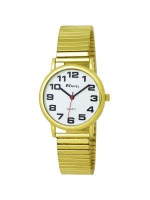 Ravel Gents Expander Bracelet Watch - Gold