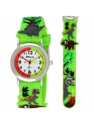 Ravel Boys 3D Dinosaur Time Teacher Watch