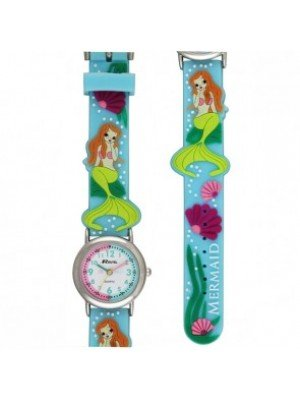 Ravel Girls Mermaid Design Time Teacher Watch - Baby Blue
