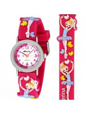 Ravel Girls Ballerina Design Time Teacher Watch - Pink