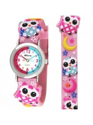 Ravel Girls Owl Design Time Teacher Watch - Pink