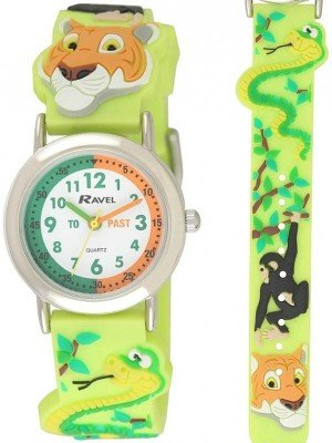 Ravel Children's Cartoon Time Teacher Watch - Jungle