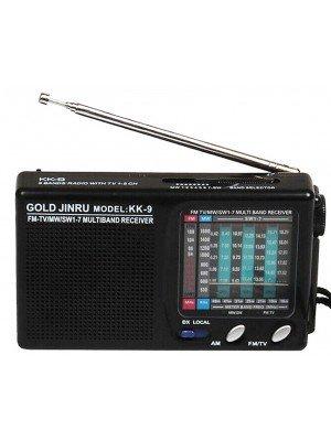 Radio JINRU KK-9 With TV Sound Receiver - Black