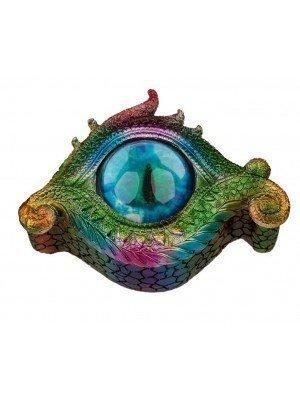 Rainbow Dragon Metallic All Seeing Eye Trinket Box