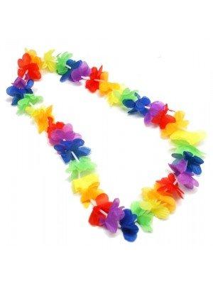 Rainbow Flower Lei Garland