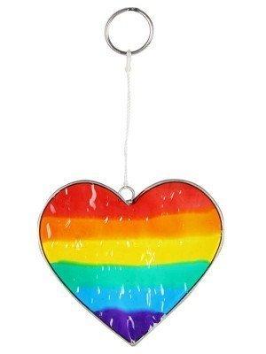 Wholesale Rainbow Heart Suncatcher