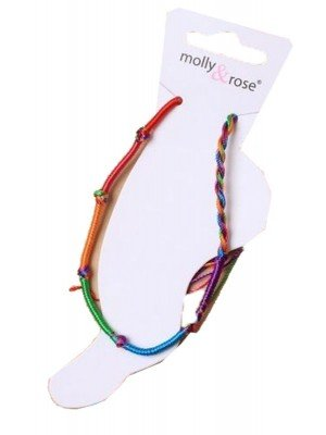 Rainbow Knotted Cord Anklet