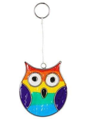 Wholesale Rainbow Owl Suncatcher