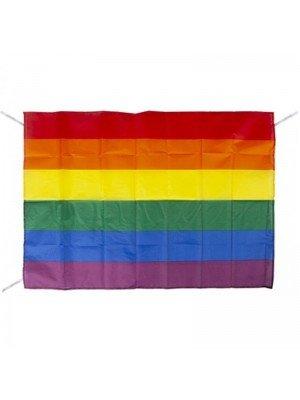 Wholesale Rainbow Flag with Strings (33 x 23)