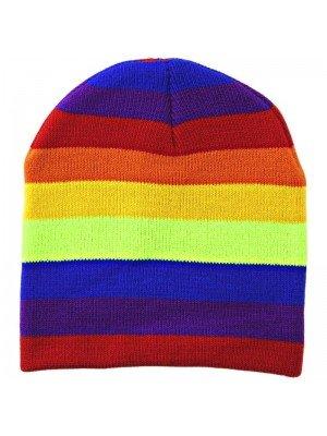 Kids Rainbow Colour Beanie Hat