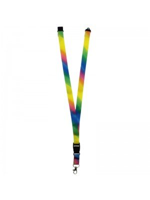 Rainbow Design Lanyard with Lobster Claw Closure