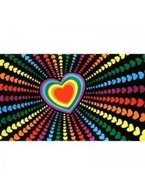 Rainbow Love Flag - 5ft x 3ft