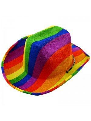 Rainbow Print Cowboy Hat