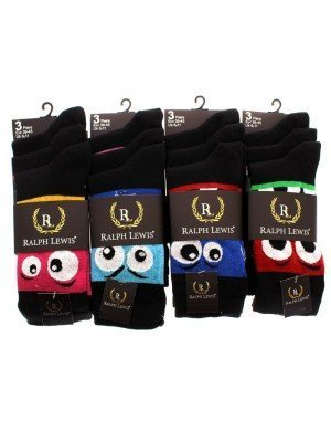 Ralph Lewis Face Design Socks - Assorted Colours & Designs