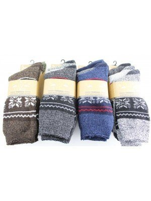 Wholesale Men's Ralph Lewis 3 pack Thermal Soft Wool Blend Boot Socks(6-11)