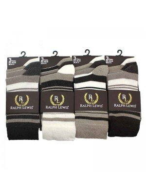 Mens Ralph Lewis Socks Assorted Brown Colours - 6-11
