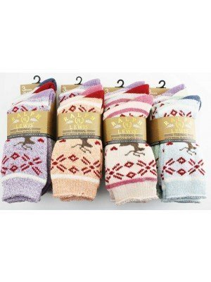 Wholesale Ladies Ralph Lewis 3 pack Thermal Soft Wool Blend Boot Socks(6-11)