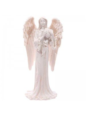 White Standing Angel Figurine