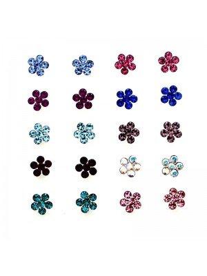 Wholesale Gem Set Flower Nose Pins(3.5mm)