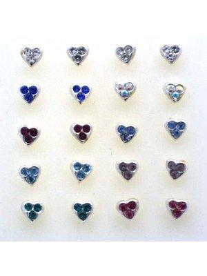 Wholesale Heart Shape Swarovski Crystal Assorted Colours(3.5mm)