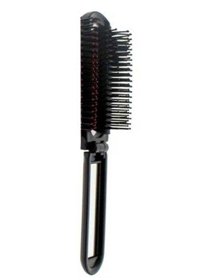 Folding Compact Hair Brush with Mirror