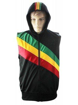 Rasta Colours Gilet Jacket Tracksuit