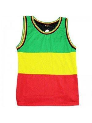 Wholesale Rasta Colours Theme Mesh Top Vest (Assorted Sizes)