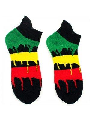 Rasta Dripping Colours Design Trainer Socks