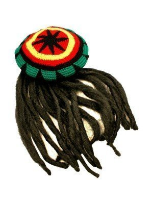 Wholesale Pan African Knitted Rasta Hat With Dreadlocks