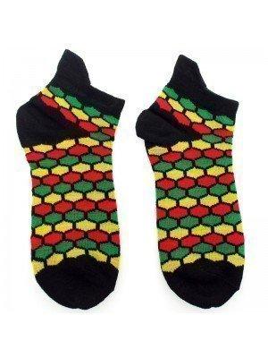 Rasta Hive Design Trainer Socks