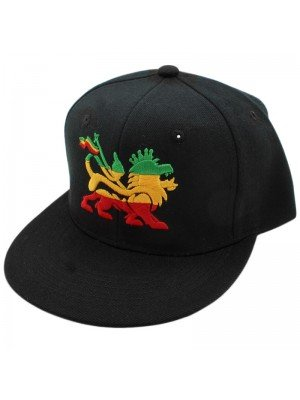 Wholesale Rasta Lion of Judah Snapback - Black