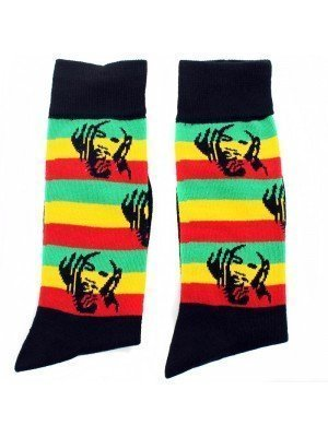 Rasta Man Design Long Hose Socks