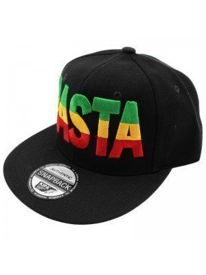 Wholesale Rasta Print with Rasta Colours Snapback - Black