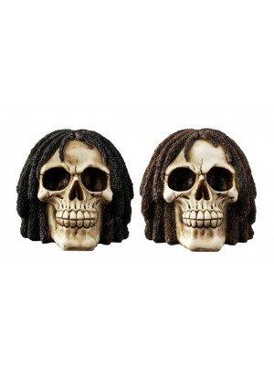 Wholesale Rasta Skull Ornament - 2 pcs