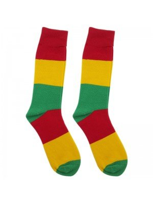 Rasta Colours Work Socks - Black
