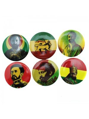 Rasta Design Badges (Assortment)
