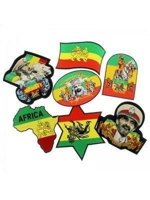 Rasta Design Iron-On Badges (Assorted Designs) 2