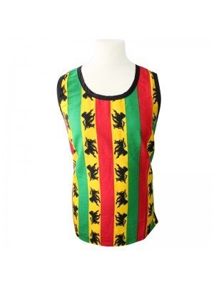 Rasta Design Lion of Judah Cotton and Mesh Vest - One Size