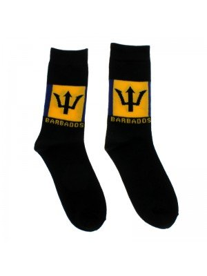Rasta Design Socks - Barbados Flag
