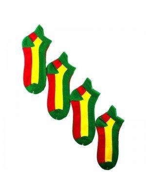 Men's Rastafarian Flag Design Trainer Socks (1 Pair Pack)