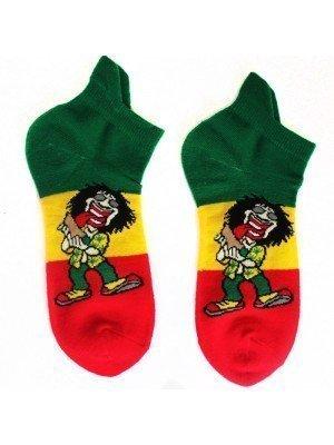 Rasta Man Print Trainer Socks