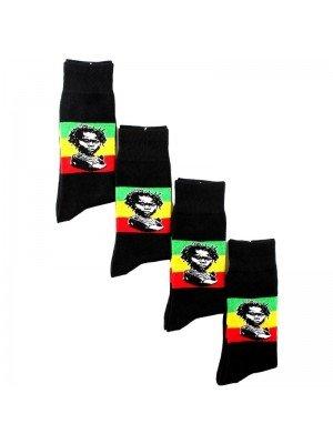 Men's Black Rasta Baby Design Socks (1 Pair Pack)