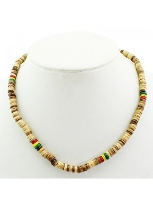 Rasta Theme Necklace - Beige (Thin)