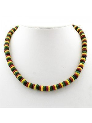 Rasta Themed Necklace - Rasta Coloured Beads