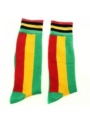 Rastafarian Flag Design Long Hose Socks