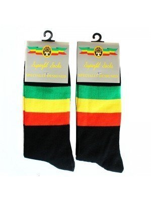 Rastafarian Flag Design Socks